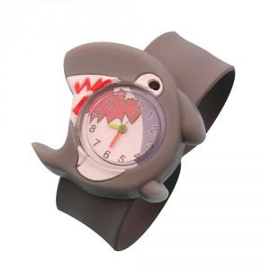Dětské silikonové, navíjecí SLAP hodinky - žralok