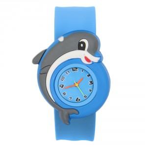 Dětské silikonové, navíjecí SLAP hodinky - delfínek modrý