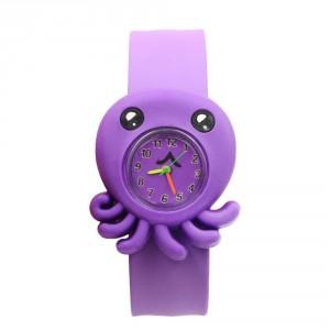 Dětské silikonové, navíjecí SLAP hodinky - chobotnička fialová