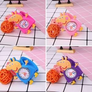 Dětské silikonové, navíjecí SLAP hodinky - Peppa Pig - 5 barev