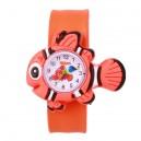 Dětské silikonové, navíjecí SLAP hodinky - rybka zelená