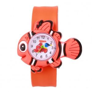 Dětské silikonové, navíjecí SLAP hodinky - rybka oranžová