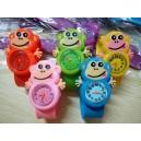 Dětské silikonové, navíjecí SLAP hodinky - opičky 5 barev
