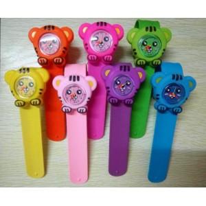 Dětské silikonové, navíjecí SLAP hodinky - tygříci 6 barev
