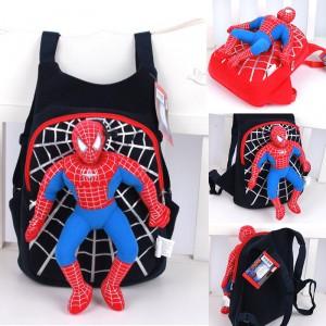 Dětský baťoh, chlapecký batůžek 3D Spiderman - červený, černý