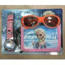 Dětské, dívčí hodinky Frozen Elsa a Anna + peněženka + sluneční brýle -TIP na dárek