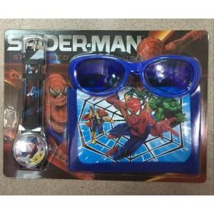 Dětské, dívčí hodinky Spiderman + peněženka + sluneční brýle -TIP na dárek