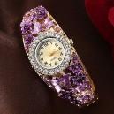 Dámské hodinky jako šperk květinové s krystaly