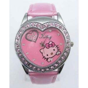 Dětské, dívčí hodinky Hello Kitty srdíčko růžové