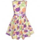Dívčí, dětské šaty s potiskem květin