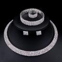 Luxusní set - náhrdelník + náušnice + náramek + prsten bílé zlato Swarovski krystal
