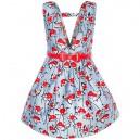 Dětské, dívčí letní společenské šaty modré s potiskem květin