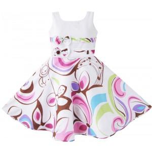 Dětské, dívčí letní šaty bílé s květy