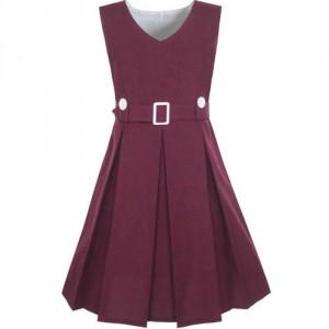 Dětské, dívčí šaty ve stylu školní uniformy - 4 barvy