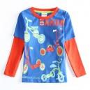 Dětské chlapecké tričko, triko s dlouhým rukávem koloběžky