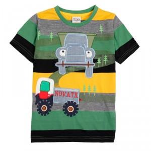Dětské chlapecké tričko, triko s krátkým rukávem s traktorem