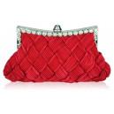 Luxusní společenská kabelka červená