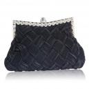 Luxusní společenská kabelka černá