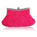 Luxusní společenská kabelka sytě růžová