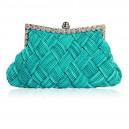 Luxusní společenská kabelka tyrkysově modrá