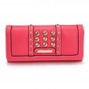 Elegantní dámská peněženka s velkými krystaly - růžová