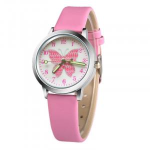 """Dětské, dívčí hodinky s číslicemi - """"motýl"""" 6 barev"""
