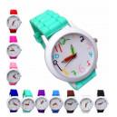 """Dětské hodinky silikonové s barevnými číslicemi """"tužka"""""""