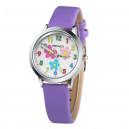 """Dětské, dívčí hodinky s číslicemi - """" květiny"""" 7 barev"""