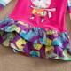 Dětské dívčí šaty, tunika s dlouhým rukávem růžová s králíčkemýlkami