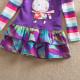 Dětské dívčí šaty, tunika s dlouhým rukávem fialová s králíčkemýlkami