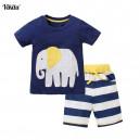 Dětské chlapecká souprava tričko + šortky se slonem