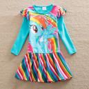 Dětské dívčí šaty, tunika s dlouhým rukávem My little pony