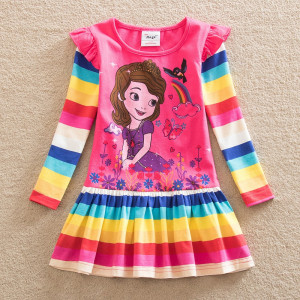 Dětské dívčí šaty, tunika s dlouhým rukávem princezna Sofie