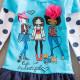 Dětské dívčí šaty, tunika s dlouhým rukávem holky