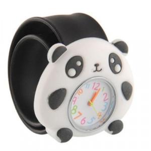 Dětské silikonové, navíjecí SLAP hodinky - medvídek panda