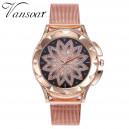 Luxusní zlaté dámské hodinky třpytivá květina