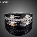 Luxusní stříbrný masivní náramek s krystaly s olejomalbou