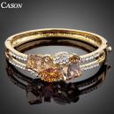 Luxusní zlatý náramek s velkými krystaly