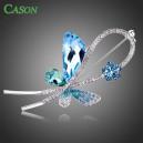 Luxusní módní brož - motýl Swarovski krystal