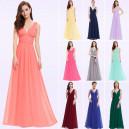 Nebesky jemné společenské šaty Ever Pretty 9016 - 14 barev