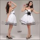 Nebesky krásné bílé šaty s květinou Ever Pretty