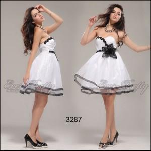 Nebesky krásné bílé šaty s květinou Ever Pretty 03287