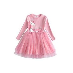 Dívčí šaty, tunika s tutu sukýnkou jednorožec růžová