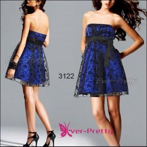 Luxusní modré šaty s krajkou Ever Pretty 3122