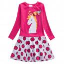 Dětské dívčí šaty, tunika s jednorožcem
