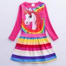 Dětské dívčí šaty, tunika s dlouhým rukávem Unicorn