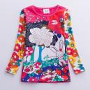Dětské, dívčí tričko barevné se zajíčkem