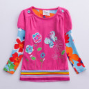 Dětské, dívčí tričko s barevné s motýlky a kytičkami