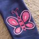 Dětské, dívčí legíny tmavě modré s vyšívaným motýlkem