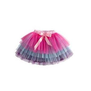 Dětské, dívčí volánková barevná tutu sukýnka